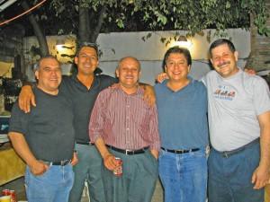 Jose Marmolejo, Efren Cazares, Jesus Garcia, Gonzalo Guevara and Fortunato Garza
