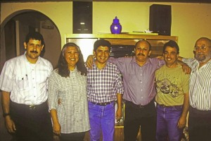 Fortunato Garza, Isaac Silva and wife, Jesus Garcia, Michael Castellano and Jim Trappe
